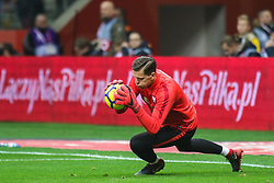 November 10, 2017 - Warsaw, Poland - Wojciech Szczesny (POL)  in action during the international friendly match between Poland and Uruguay at National Stadium on November 10, 2017 in Warsaw, Poland. (Credit Image: © Foto Olimpik/NurPhoto via ZUMA Press)