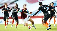 Football - 2019 / 2020 Premier League - Aston Villa vs. Chelsea<br /> <br /> Jack Grealish of Aston Villa tackled by Antonio Rudiger and  N'Golo Kante of Chelsea at Villa Park. <br /> <br /> <br /> COLORSPORT/LYNNE CAMERON