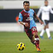 Trabzonspor's Alan Carlos Gomes Da COSTA during their Turkey Cup Group B matchday 5 soccer match Besiktas between Trabzonspor at the Inonu stadium in Istanbul Turkey on Wednesday 26 January 2011. Photo by TURKPIX