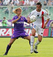 Firenze 01/10/2006<br /> Campionato Italiano Serie A 2006/07<br /> Fiorentina-Catania 3-0<br /> Gennaro Sardo e Marco Donadel<br /> Foto Luca Pagliaricci Inside<br /> www.insidefoto.com