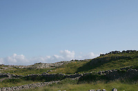 stone walls and fields on the Aran Islands County Galway Ireland