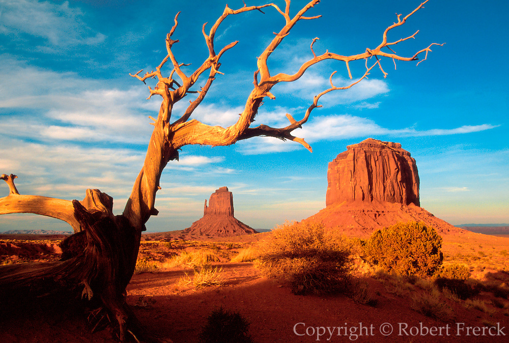 ARIZONA, MONUMENT VALLEY East Mitten and Merrick Butte