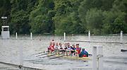 Henley. Great Britain.   Molesey Eights 40+ and 50+ 175th  Henley Royal Regatta, Henley Reach. England. 08:22:17  Sunday  06/07/2014. [Mandatory Credit; Intersport-images] <br /> <br /> Crews 40's Bow, Dan RITCHIE, James WRIGHT, Jonny SEARLE, Guy POOLEY, Alex Partridge, Mike BLOMQUIST, Simon FIELDHOUSE, Dave GILLARD, Neil CHUGANI,<br /> <br /> 50's Richard STANHOPE, Martin CROSS, Malcolm MCGOWAN, Joe MICHELS, Jean CHRISTOPHE-ROLLAND, Matt PINSENT, Ian MCNUFF, Diederik SIMON cox Gary HERBERT