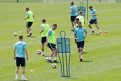 Players during training of Slovenian national football team before friendly match against Montenegro, on May 30, 2018 in National Football Centre, Brdo pri Kranju, Kranj, Slovenia. Photo by Urban Urbanc / Sportida