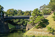 Japan, Tokyo View of Nijubashi bridge at Imperial Palace