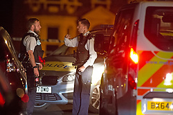 © Licensed to London News Pictures 01/06/2021. Hither Green, UK. A 23 year old man has been stabbed in the face in Hither Green, Lewisham in London this evening police are on scene and a cordon is in place. The man is in a life threating condition in hospital. Photo credit:Grant Falvey/LNP