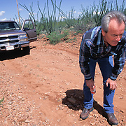 Roger Barnett regularly patrolled his property along the US/Mexico border while carrying an assault rifle and pistol. Roger would track suspected undocumented immigrants crossing his property into Arizona. Please contact Todd Bigelow directly with your licensing requests.