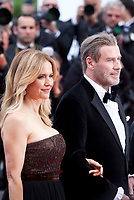 Kelly Preston and John Travolta at the Solo: A Star Wars Story gala screening at the 71st Cannes Film Festival, Tuesday 15th May 2018, Cannes, France. Photo credit: Doreen Kennedy