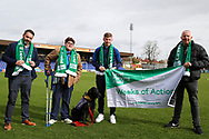 AFC Wimbledon midfielder Max Sanders (23) wearing Level Playing Field scarf during the EFL Sky Bet League 1 match between AFC Wimbledon and Bolton Wanderers at the Cherry Red Records Stadium, Kingston, England on 7 March 2020.