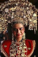 Maningkabau bride on her wedding day