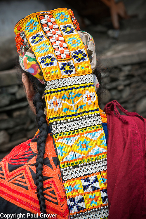 Bumburet, Chitral District,Pakistan.Pic Shows A Kalash woman  in the valley of Bumburet