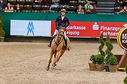 DREHER Hans-Dieter (GER), Perideaux<br /> Leipzig - Partner Pferd 2020<br /> FUNDIS Youngster Tour<br /> 2. Qualifikation für 7jährige Pferde <br /> Springprfg. nach Fehlern und Zeit, int.<br /> Höhe: 1.35 m<br /> 18. Januar 2020<br /> © www.sportfotos-lafrentz.de/Stefan Lafrentz