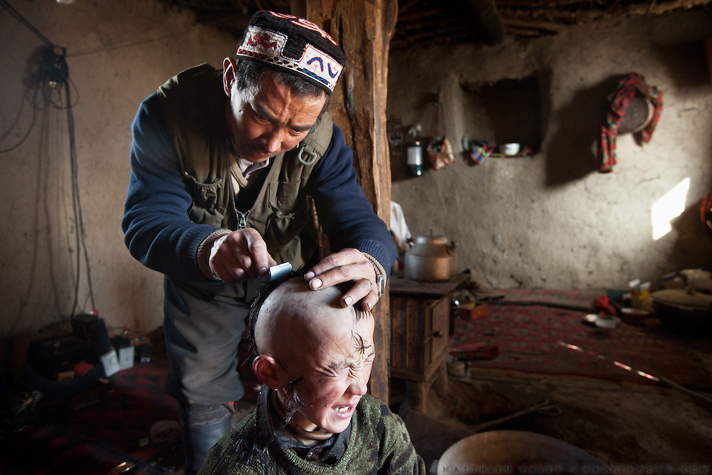 Khairuddin's father hopes that shaving his son's head?and putting the hair in a ?clean place,? such as a frozen river?will cure the boy's persistent headaches. Although the Kyrgyz are Sunni Muslims, their rituals also reflect other ancient traditions. They believe that evil spirits cause many medical problems...