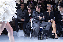 Close friends Celine Dion and Pepe Munoz, here along with Ellen Von Unwerth, attend the Alexandre Vauthier Haute Couture Spring Summer 2019 show as part of Paris Fashion Week on January 22, 2019 in Paris, France. Photo by Bakounine/ABACAPRESS.COM