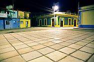 Plaza in Gibara, Holguin, Cuba.