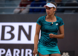 May 13, 2019 - Rome, ITALY - Elise Mertens of Belgium in action during her first-round match at the 2019 Internazionali BNL d'Italia WTA Premier 5 tennis tournament (Credit Image: © AFP7 via ZUMA Wire)