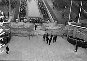 11/04/1966<br /> 04/11/1966<br /> 11 April 1966<br /> 1916 Jubilee Commemorations- Opening and Blessing Ceremony at the Garden of Remembrance, Parnell Square, Dublin. Image shows President Eamon de Valera entering the garden.