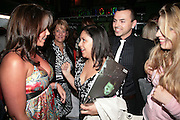 Michelle Heaton, Chrissie Bushell and Andy Scott Lee, Cast change for Wicked. Apollo Victoria theatre. After party at Park Plaza Victoria. 12 April 2007.  -DO NOT ARCHIVE-© Copyright Photograph by Dafydd Jones. 248 Clapham Rd. London SW9 0PZ. Tel 0207 820 0771. www.dafjones.com.