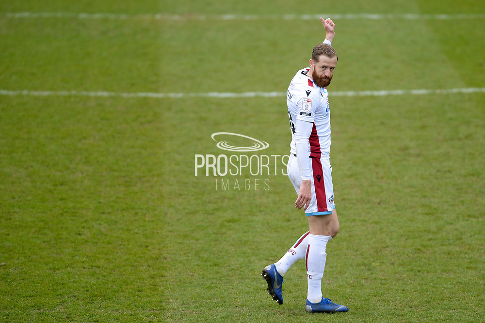 Scunthorpe United Kevin van Veen (10) full length portrait during the EFL Sky Bet League 2 match between Bradford City and Scunthorpe United at the Utilita Energy Stadium, Bradford, England on 1 May 2021.