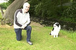 Eddie Sander with his Dogs Jackson and Inka<br /><br />18 June 2004<br /><br />Copyright Paul David Drabble<br /> [#Beginning of Shooting Data Section]<br />Nikon D1 <br /> Focal Length: 22mm<br /> Optimize Image: <br /> Color Mode: <br /> Noise Reduction: <br /> 2004/06/18 10:17:37.4<br /> Exposure Mode: Programmed Auto<br /> White Balance: Auto<br /> Tone Comp: Normal<br /> JPEG (8-bit) Fine<br /> Metering Mode: Center-Weighted<br /> AF Mode: AF-S<br /> Hue Adjustment: <br /> Image Size:  2000 x 1312<br /> 1/100 sec - F/5.6<br /> Flash Sync Mode: Front Curtain<br /> Saturation: <br /> Color<br /> Exposure Comp.: 0 EV<br /> Auto Flash Mode: External<br /> Sharpening: Normal<br /> Lens: 17-35mm F/2.8-4<br /> Sensitivity: ISO 400<br /> Image Comment: <br /> [#End of Shooting Data Section]