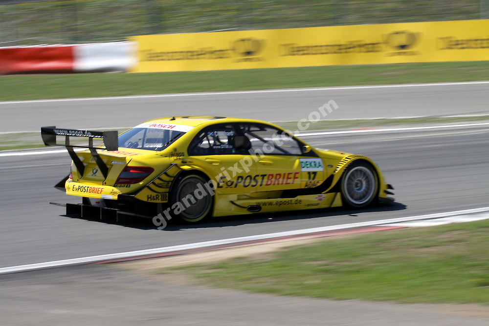 David Coulthard (Mercedes) in DTM 2010 round 5 at the Nurburgring. Photo: Michael Stirnberg/Grand Prix Photo
