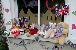 Cambridge, UK  29/04/2011. The Royal Wedding of HRH Prince William to Kate Middleton. Street Party Toilet house in George Street Cambridge city centre. Photo credit should read Jason Patel/LNP. Please see special instructions. © under license to London News Pictures