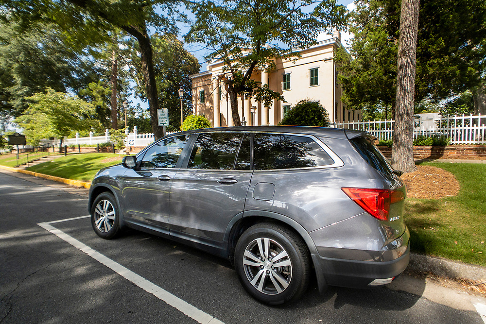 The Honda Pilot parking outside the Georgia's Old Governor's Mansion in Milledgeville, Georgia on Saturday, July 17, 2021. Copyright 2021 Jason Barnette