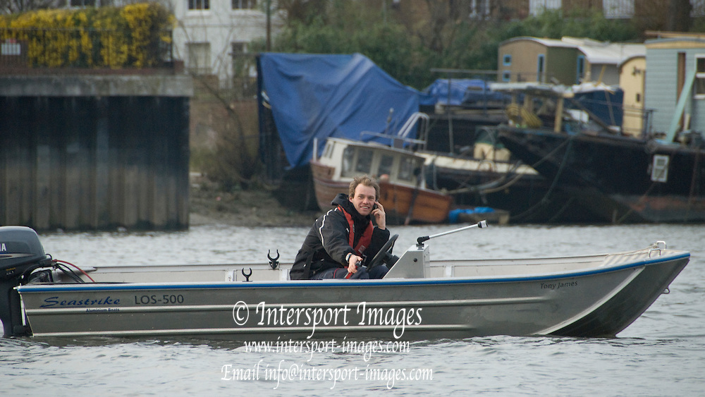 London, Great Britain.  Pre Boat race fixture over the Championship Course  River Thames. Single race piece - Putney to Chiswick Pier.  on Saturday  12/03/2011 [Mandatory Credit; Karon Phillips/Intersport Images]..