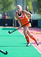 ROTTERDAM - HOCKEY - Margot van Geffen tijdens de Oefenwedstrijd tussen de vrouwen van Nederland en Duitsland (10-2) ter voorbereiding voor de HWL, volgende week. COPYRIGHT KOEN SUYK
