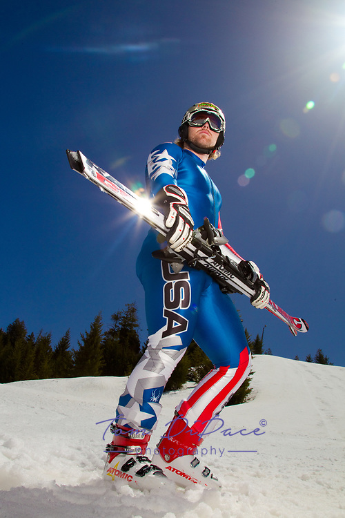 ©2010 Tom DiPace Photography<br /> All Rights Reserved<br /> 561.968.0600,561.818.8288<br /> www.dipacefotos.com<br /> Team USA Skier Erik Fisher in Bogus Basin in Boisie ,Idaho<br /> <br /> By Tom DiPace