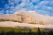 Morning fog on Cascade Mountain<br />Banff National Park<br />Alberta<br />Canada