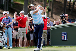 June 22, 2018 - Cromwell, CT, U.S. - CROMWELL, CT - JUNE 22: Marc Leishman of Australia hits from the 18th tee during the Second Round of the Travelers Championship on June 22, 2018, at TPC River Highlands in Cromwell, Connecticut. (Photo by Fred Kfoury III/Icon Sportswire) (Credit Image: © Fred Kfoury Iii/Icon SMI via ZUMA Press)