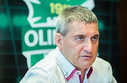 Marijan Pusnik introduced as a new coach during press conference of NK Olimpija before new season 2015/16, on June 10, 2015 in Austria Trend Hotel, Ljubljana, Slovenia. Photo by Vid Ponikvar / Sportida