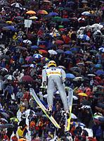 Hopp: 29.12.2001 Oberstdorf, Deutschland,<br />Der Deutsche Stefan Hocke am Samstag (29.12.2001) bei der Qualifikation zum 1.Springen der Vierschanzentournee in Oberstdorf. <br /><br />Foto: JAN PITMAN/Digitalsport