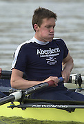 Peter Spurrier Sports  Photo<br />email pictures@rowingpics.com<br />Tel 44 (0) 7973 819 551<br /><br />Photo Peter Spurrier<br />27/03/2002<br />2002 Varsity Boat Race-Tideway week<br />Wed morning Blue Boat training session<br />OUBC Matt Smith 20020327 University Boat Race, [Varsity],  Tideway Week. Putney. London