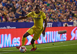 March 10, 2019 - Valencia, U.S. - VALENCIA, SPAIN - MARCH 10: Karl Toko Ekambi, forward of Villarreal CF in action with the ball during the La Liga match between Levante UD and Villarreal CF at Ciutat de Valencia stadium on March 03, 2019 in Valencia, Spain. (Photo by Carlos Sanchez Martinez/Icon Sportswire) (Credit Image: © Carlos Sanchez Martinez/Icon SMI via ZUMA Press)
