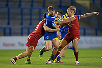 Rugby League - 2020 Super League - Round 13 - Warrington Wolves vs Catalan Dragon<br /> <br /> Warrington Wolves's Matt Davis is tackled,   at the Halliwell Jones Stadium, Warrington<br /> <br /> <br /> COLORSPORT/TERRY DONNELLY