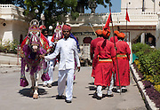 Preparing for the event in Udaipur India 2011