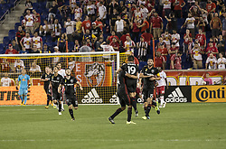 September 27, 2017 - Harrison, New Jersey, United States - ZoltanStieber (19) of DC United celebrates scoring goal during regular MLS game against New York Red Bullsd at Red Bull Arena Game ended in draw 3 - 3 (Credit Image: © Lev Radin/Pacific Press via ZUMA Wire)