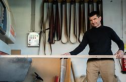 Portrait of a carpenter Jernej Iskra, on April 23, 2021 in Bevke, Vrhnika, Slovenia. Photo by Vid Ponikvar / Sportida