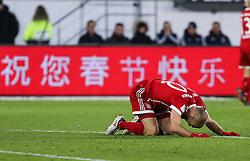 WOLFSBURG, Feb. 18, 2018  Bayern Munich's Arjen Robben reacts after missing a scoring chance during a German Bundesliga match between VfL Wolfsburg and Bayern Munich, in Wolfsburg, Germany, on Feb. 17, 2018. Bayern Munich won 2-1. (Credit Image: © Shan Yuqi/Xinhua via ZUMA Wire)