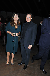 ALEXANDRA SHULMAN and VISCOUNT LINLEY at a dinner hosted by Calvin Klein Collection to celebrate the future Home of The Design Museum at The Commonwealth Institute, Kensington, London on 13th October 2011.