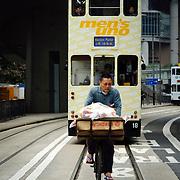 Tramway at Central district, Hong Kong Island, Hong Kong, China, East Asia