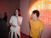 Chris Cunningham and Tim Noble. Apocalypse opening. Royal Academy. 18 September 2000. © Copyright Photograph by Dafydd Jones 66 Stockwell Park Rd. London SW9 0DA Tel 020 7733 0108 www.dafjones.com