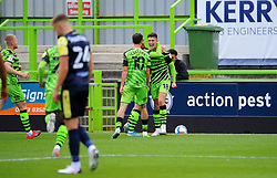 Jake Young of Forest Green Rovers scores a goal making it 1-0 - Mandatory by-line: Nizaam Jones/JMP - 17/10/2020 - FOOTBALL - innocent New Lawn Stadium - Nailsworth, England - Forest Green Rovers v Stevenage - Sky Bet League Two