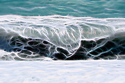 Beach wave in  Nice France