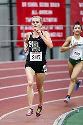 womens 3000 meters, heat 4, Brown<br /> BU John Terrier Classic <br /> Indoor Track & Field Meet