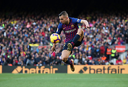 October 28, 2018 - Barcelona, Catalonia, Spain - Jordi Alba during the match between FC Barcelona and Real Madrid CF, corresponding to the week 10 of the Liga Santander, played at the Camp Nou, on 28th October 2018, in Barcelona, Spain. (Credit Image: © Joan Valls/NurPhoto via ZUMA Press)