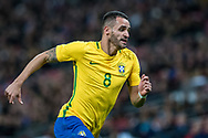 Brazil (8) Renato Augusto during the International Friendly match between England and Brazil at Wembley Stadium, London, England on 14 November 2017. Photo by Sebastian Frej.