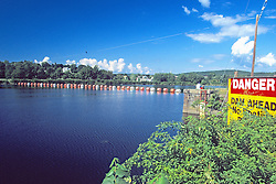 Danger - Dam Ahead Sign
